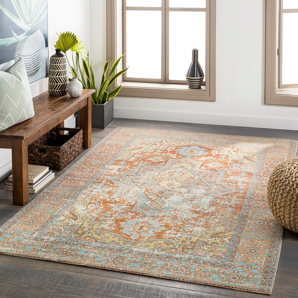 Dellie Indoor/ Outdoor Traditional Medallion Area Rug. Opens flyout.