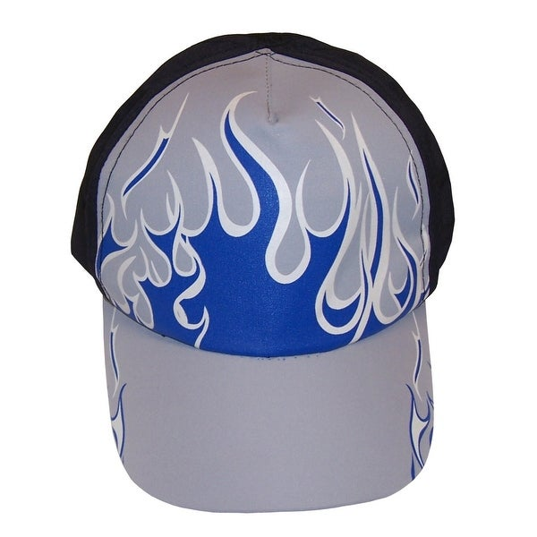 9201ef19b30 Shop NICE CAPS Boys Magical Color Changing Flame Printed Ball Cap - black grey navy white  changes to another colorway - Free Shipping On Orders Over  45 ...