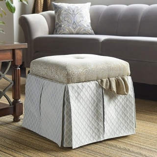 Link to Jennifer Taylor Stacy Square Storage Vanity Stool Similar Items in Cocktail Ottomans