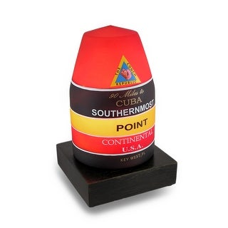 Key West Southernmost Point Buoy Landmark Glass Accent Lamp