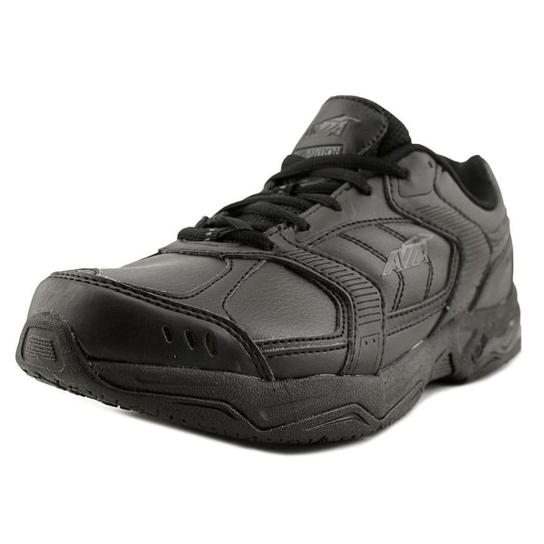 Avia Union Men Round Toe Leather Black Walking Shoe
