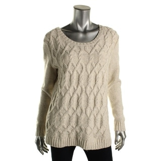 Tommy Hilfiger Womens Cable Knit Marled Pullover Sweater