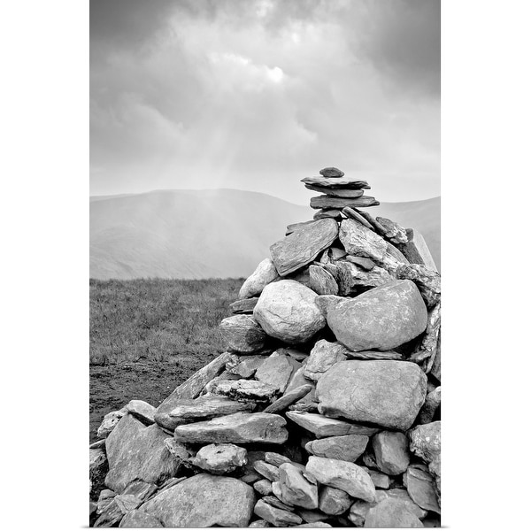 """Cairn attop of Beinn Dubh (642m) near Loch Lomond in Scotland."" Poster Print"