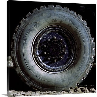 """""""close-up of a truck tire"""" Canvas Wall Art"""