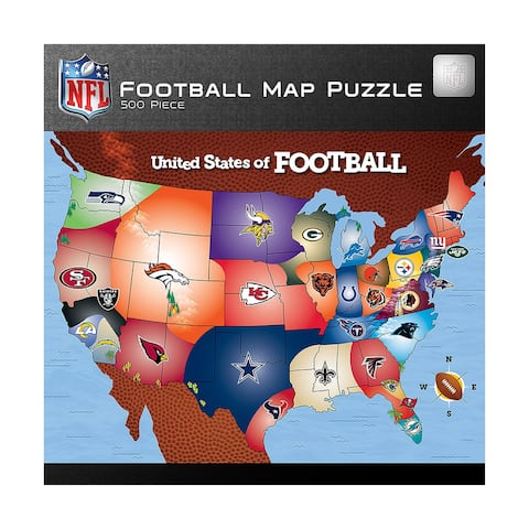 NFL Football Map Puzzle - United States of Football - 500 Pcs