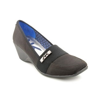 Anne Klein Sport Moyna Women Open Toe Canvas Wedge Heel