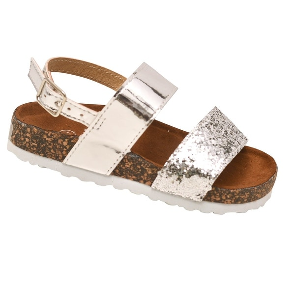 ae370a03fb7 Shop Soho Kids Girls Silver Multi Glitter Summer Wedge Sandals - Free  Shipping On Orders Over  45 - Overstock.com - 23086153