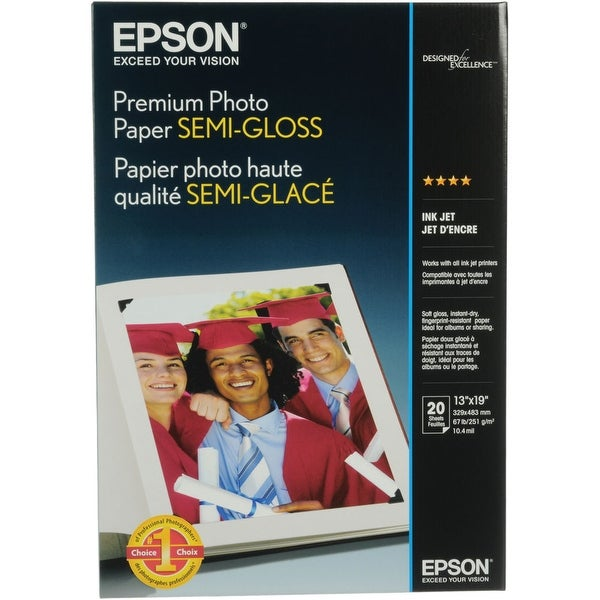 Epson Print - Paper - Semi-Gloss Photo Paper - Super B (13 In X 19 In)