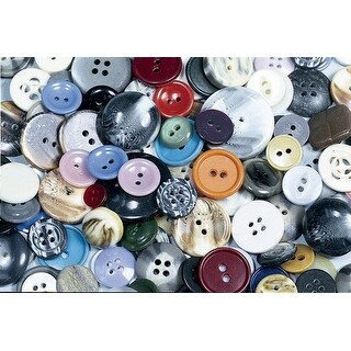 School Specialty Craft Button Assortment, Assorted Size, Assorted Color, 1 lb