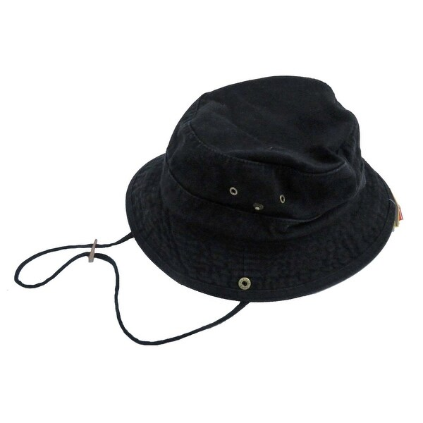 e6ed2f5e Shop Dorfman Pacific Men's Twill Black Bucket Hat - Free Shipping On Orders  Over $45 - Overstock - 24316995