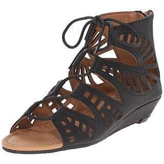 Dolce Vita Girls Sarge Faux Leather Open Toe Wedge Sandals - 13