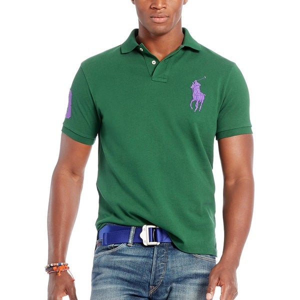 9f5da98c59 Shop Polo Ralph Lauren Custom Fit Green Big Pony Mesh Polo Shirt Medium M -  Free Shipping Today - Overstock - 19736386