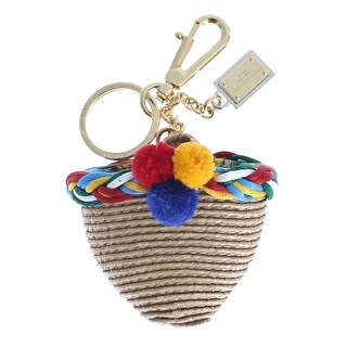 Dolce & Gabbana Multicolor Raffia Bag Keychain - One size