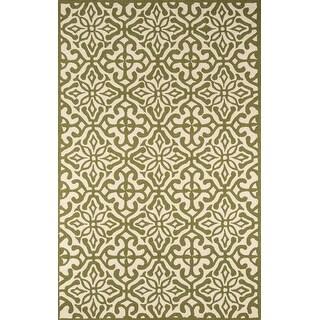 Momeni Veranda Green Talavera Tile Hand Hooked Indoor/Outdoor Rug