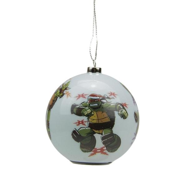 """3.25"""" Carlton Cards Heirloom Multi Color LED Teenage Mutant Ninja Turles Christmas Ball Ornament"""