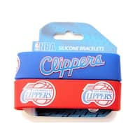 LOS Angeles Clippers Rubber Wrist Band (Set of 2) NBA