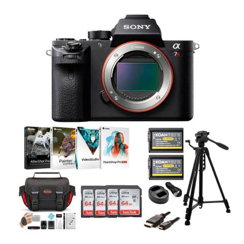Sony Alpha a7RII Mirrorless Camera w/ SD Cards & Creative Suite Bundle