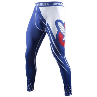 Hayabusa Recast Full Length Compression Pants - Blue/White -spats mma grappling