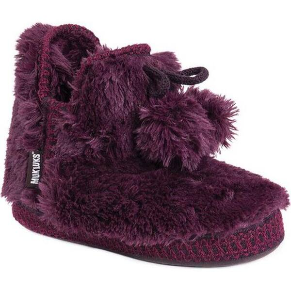 9c64ed054b6e3 Shop MUK LUKS Women's Amira Slipper Bootie Plum - Free Shipping On ...