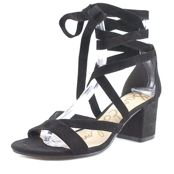 7ca7e935385 Shop Sam Edelman Sheri Women Open Toe Suede Black Sandals - Free ...
