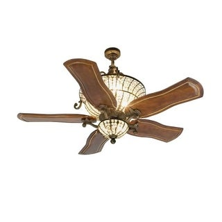 """Craftmade K10663 Cortana 54"""" 5 Blade DC Indoor Ceiling Fan - Blades, Remote and Light Kit Included"""