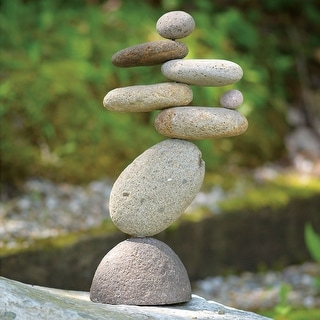 Eight-Stone Balancing Cairn - Indoor/Outdoor Garden Decoration