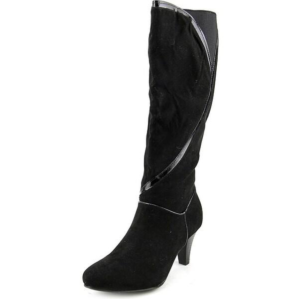 Karen Scott Mailaa Women W Round Toe Synthetic Black Knee High Boot