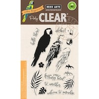 "Hero Arts Clear Stamps 4""X6""-Color Layering Parrot"