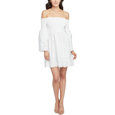 Rachel Rachel Roy Womens Casual Dress Cotton Off-The-Shoulder