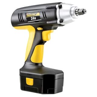 Trades Pro 24 Volt Cordless Impact Wrench, 1/2-Inch Drive 240 ft.lb Torque Reversible with Cas1 Year Warranty - 837212|https://ak1.ostkcdn.com/images/products/is/images/direct/94dd3afbc297477fee217bcc8de307b68f490113/Trades-Pro-24V-Cordless-Impact-Wrench-1-2%22-Drive---837212.jpg?impolicy=medium