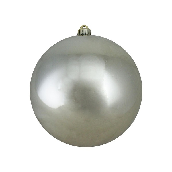 "Shiny Champagne Gold UV Resistant Commercial Shatterproof Christmas Ball Ornament 8"" (200mm)"