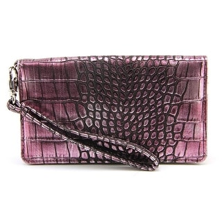Kelly & Katie Skye Women Faux Leather Purple Wristlet NWT