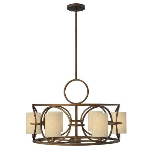 Fredrick Ramond FR42406 6 Light 1 Tier Chandelier from the Pandora Collection