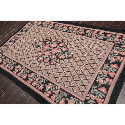 "Hand Woven Vintage Southwestern Persian Kilim Wool Oriental Area Rug (4'9""x10'9"") - 5' x 8'"
