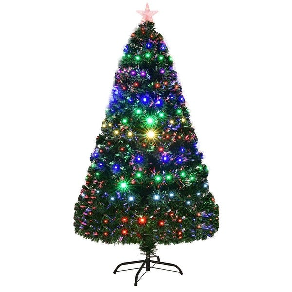 7 5 Fiber Optic Christmas Tree: Shop 6' Multicolor LED Fiber Optic Artificial Christmas