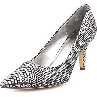 Anne Klein Yerma Women Pointed Toe Leather Silver Heels
