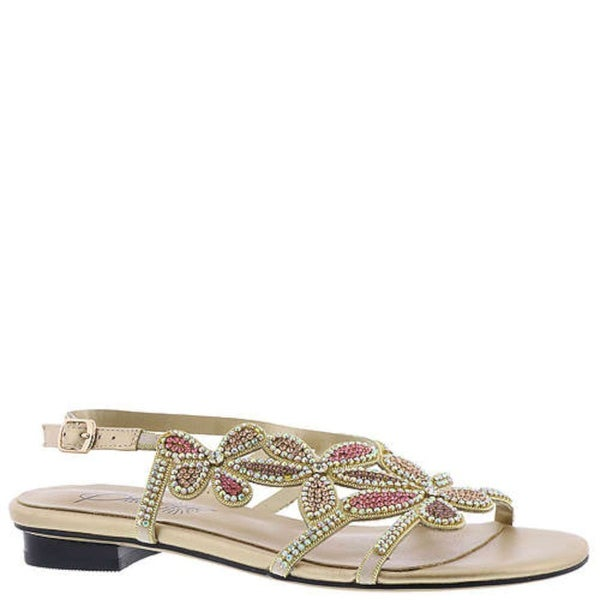 Beacon Womens shiy jeweled Open Toe Casual Ankle Strap Sandals