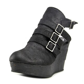 Sbicca Gomez Women  Open Toe Synthetic Black Wedge Heel