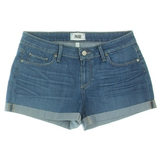 Paige Womens Jimmy Jimmy Denim Shorts Cuffed Signature Blue 26