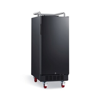 EdgeStar BR1500 15 Inch Wide Kegerator Conversion Refrigerator with Forced Air Refrigeration