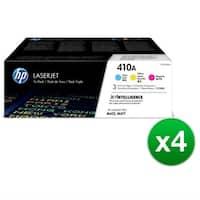 HP 410A LaserJet Toner tri-pack Cartridge Cyan, Magenta & Yellow (CF251AM)(4-Pack)