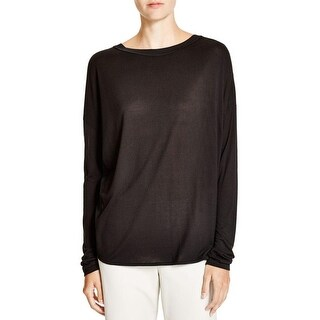 Vince Womens Blouse Silk Mixed Media (Option: S)