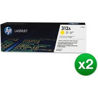 HP 312A Yellow Original LaserJet Toner Cartridge (CF382A)(2-Pack)