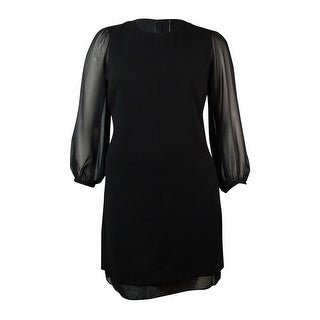 Marc New York Women's Chiffon-Sleeves Crepe Shift Dress