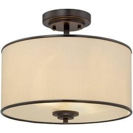 "Savoy House 6-1501-2 Grove 2 Light 14"" Wide Semi-Flush Ceiling Fixture"