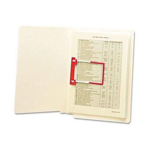 U-Clip Bonded File Fasteners 2 Capacity Red And White 100 per Box