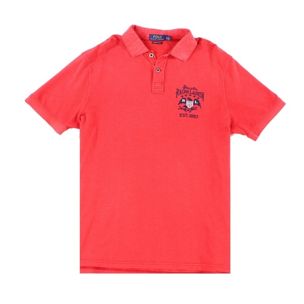 82a45fbee Shop Polo Ralph Lauren Red Mens Large L Custom Slim Polo Rugby Shirt - Free  Shipping Today - Overstock - 22164933