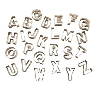 """R & M International Alphabet Cookie Cutters - High Quality Tin-Plated Steel - 2.5"""""""
