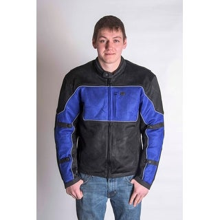 RoadDog Hurricane Mesh Jacket Motorcycle Riding Jacket Blue Men's