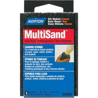 Norton 49503 Multisand Sanding Sponge Medium/Coarse